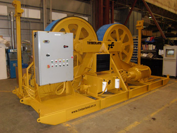 Rope tensioning system for high-altitude mine