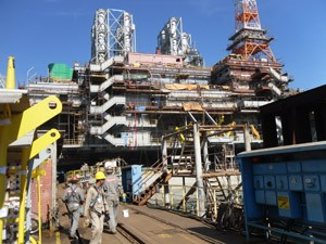 Riser Pull-In and Mooring Tensioning systems for P 56 FPU