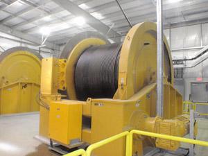 Galloway hoists for Scissor Creek shaft construction